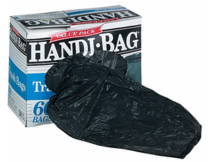 Super Value Pack Trash Bags, 30 gallon, .69 mil, 36 x 29.5, Black, 60/Box