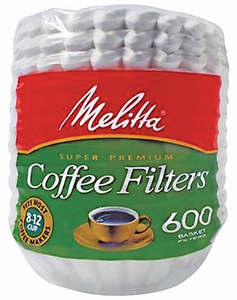 Melitta® Basket Style Coffee Filters, 8-12 Cup, 7200/CT