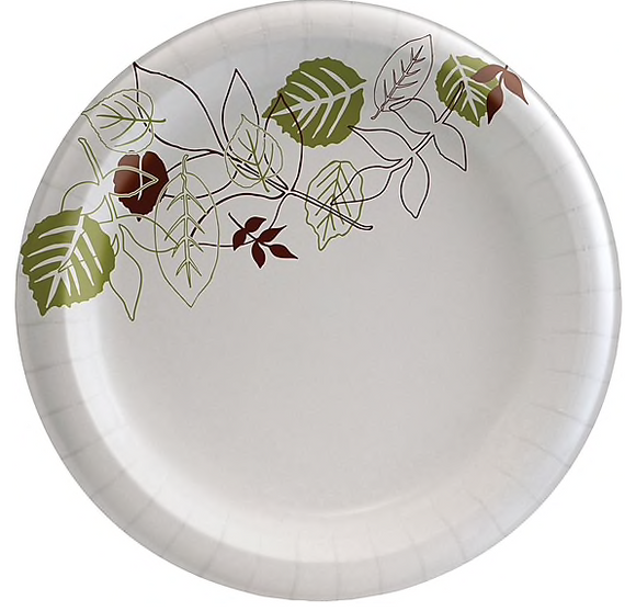 "Dixie® Pathways® Medium-Weight Paper Plate 8.5"", 500/Carton (UX9WS)"