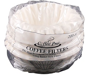 Coffee Pro® Basket Style Coffee Filters, 10-12 Cups, 200/Pk