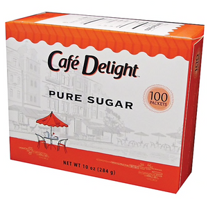 Cafe Delight™ Pure Sugar Packets, 100/Box