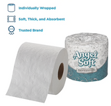 Angel Soft Professional Series® Premium 2-Ply Embossed Toilet Paper by GP PRO, 450 Sheets/Roll, 40 Rolls/Carton
