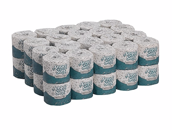 Angel Soft Professional Series® Premium 2-Ply Embossed Toilet Paper by GP PRO, 450 Sheets/Roll, 40 Rolls/Carton ***Backordered until March 30th***