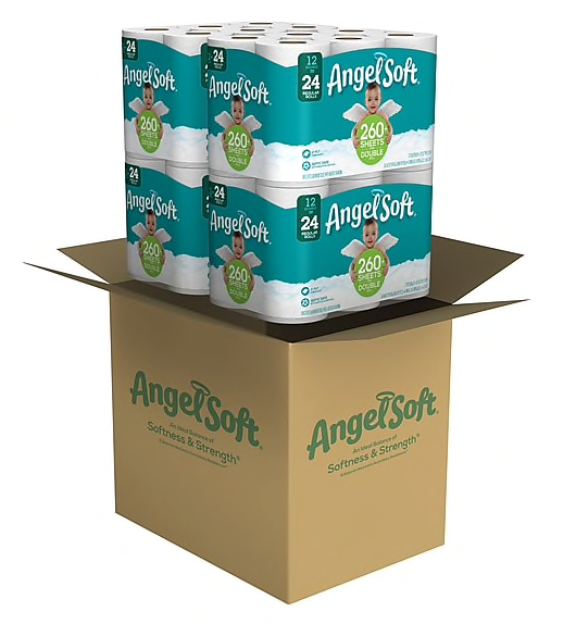Angel Soft 2-Ply Toilet Paper, 48 Rolls/Carton