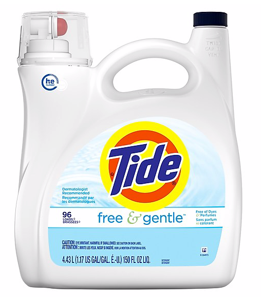Tide®Liquid Free & Gentle Laundry Detergent, 150 fl. oz