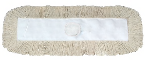 "O'Dell® Cotton Cut-End Dust Mop Head, 24"" x 5"", White"