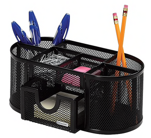 Rolodex® Black Mesh Desk Accessories, Pencil and Pen Cup Holder (1746466)