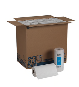 Pacific Blue Select™ Perforated Roll Towel by GP PRO, 2-Ply, White, 85 Sheets/Roll, 30 Rolls/Carton (27385)