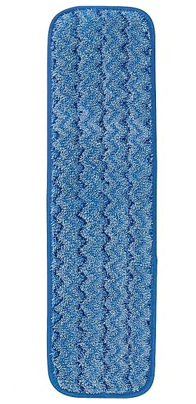 Rubbermaid HYGEN™ Microfiber Damp Mop Pad, Blue, 18