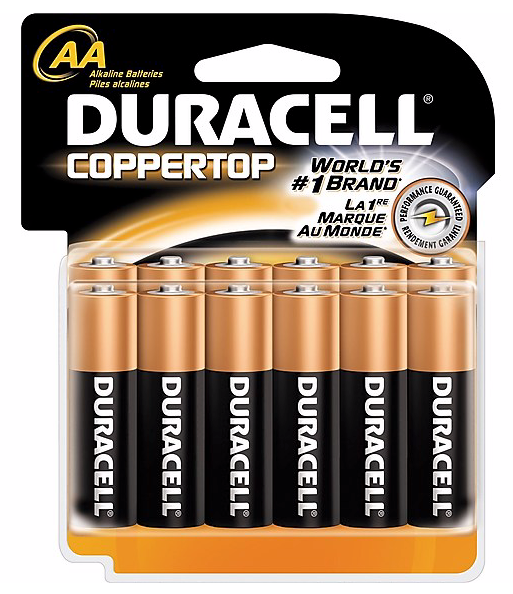 Duracell® Coppertop® AA Alkaline Batteries, 12/Pack