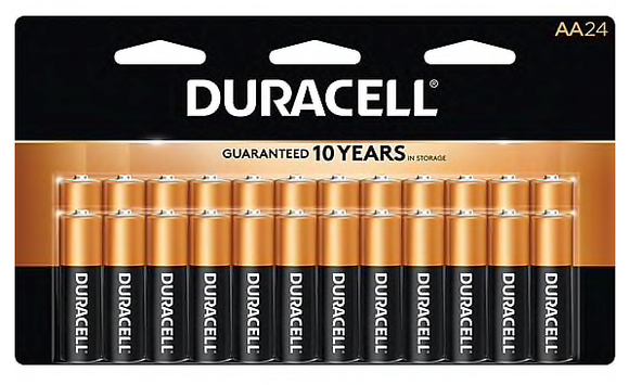 Duracell® Coppertop® AA Alkaline Batteries, 24/Pack