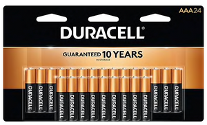 Duracell® Coppertop® AAA Alkaline Batteries, 24/Pack