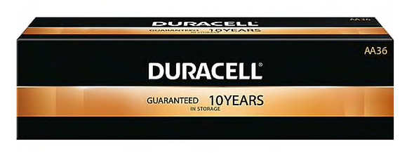 Duracell® Coppertop® AA Alkaline Batteries, 36/Pack