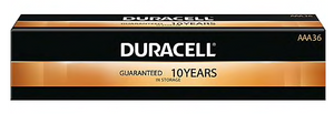 Duracell Coppertop Alkaline AAA Battery, Pack of 36