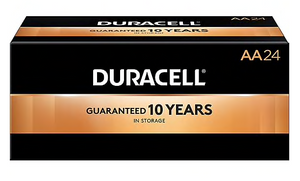 Duracell® Coppertop® AA Alkaline Batteries, 144/Carton
