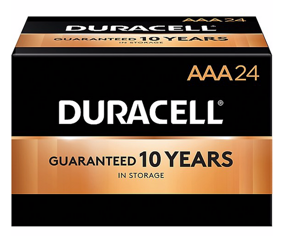 Duracell® Coppertop® AAA Alkaline Batteries, 144/Carton