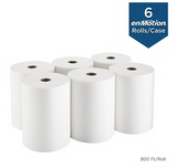 enmotion Hardwound Paper Towels, 1-Ply, 6 Rolls/Carton (89460