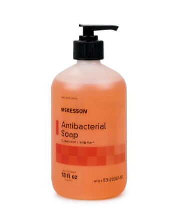 McKesson Antibacterial Soap Pump Bottle 18oz.