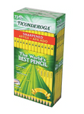 Ticonderoga #2 Graphite Pencil, Pre-sharpened, 72/Ct (13972)