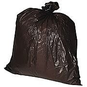 Genuine Joe® Heavy-Duty Trash Bags, 60 Gallon, 1.5 Mil, Black, 39