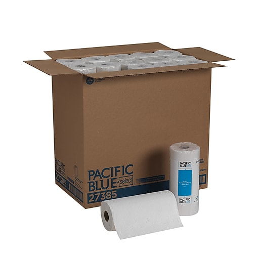 Pacific Blue Select, 2-Ply Perforated Roll Towel by GP PRO, White, (27385), 85 Sheets Per Roll, 30 Rolls Per Case ***Backordered until April 7th***