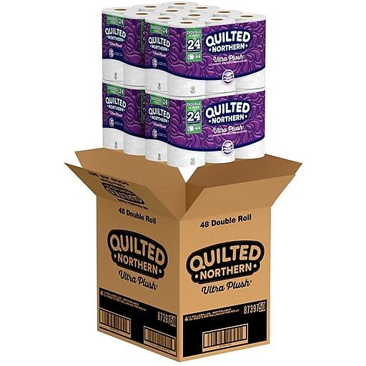 Quilted Northern Ultra Plush Bath Tissue, 3-Ply, 48 Double Rolls/Case (87355) *** Backordered until Apr 12th ***