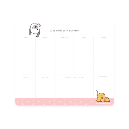Mousepad planner Cats & Dogs