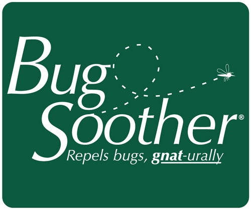 bug soother white text