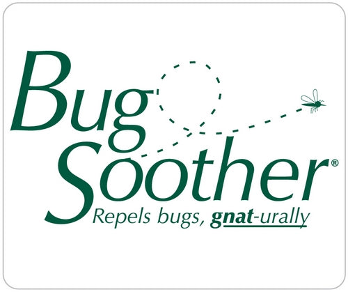 bug soother green text