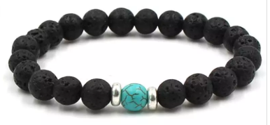 Lava Bead Diffuser Jewelry- Blue