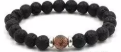 Lava Bead Diffuser Jewelry- Brown Speckle