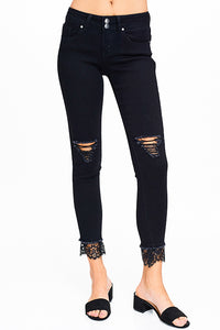 Frayed & Laced Jeans