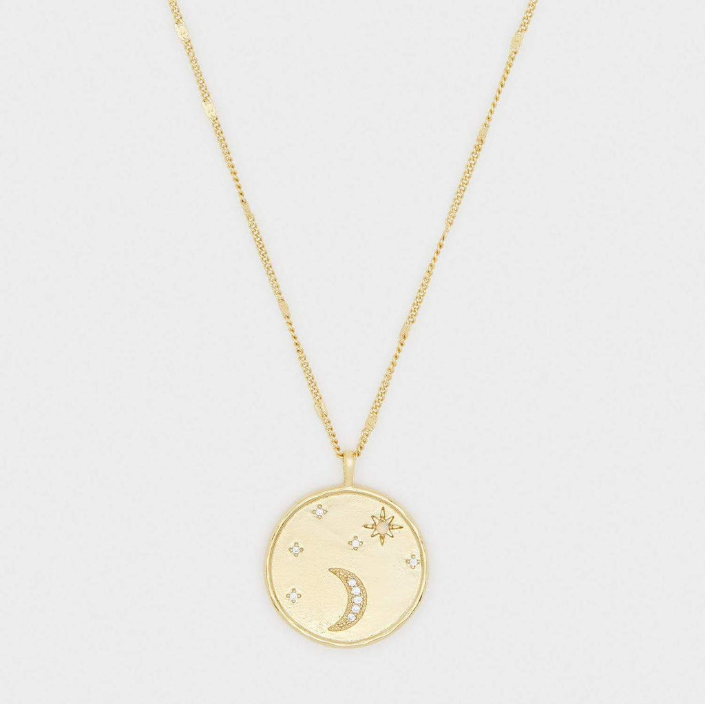 Luna Gold Coin Necklace