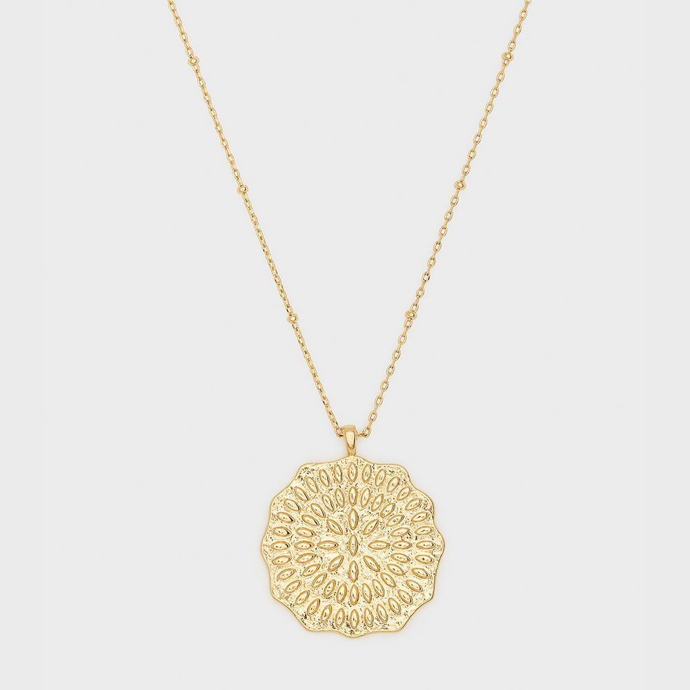 Gold Mosaic Coin Necklace