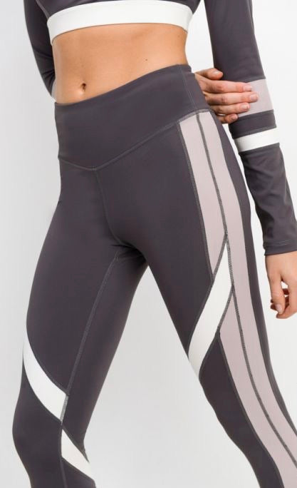 Gray Color Block Legging