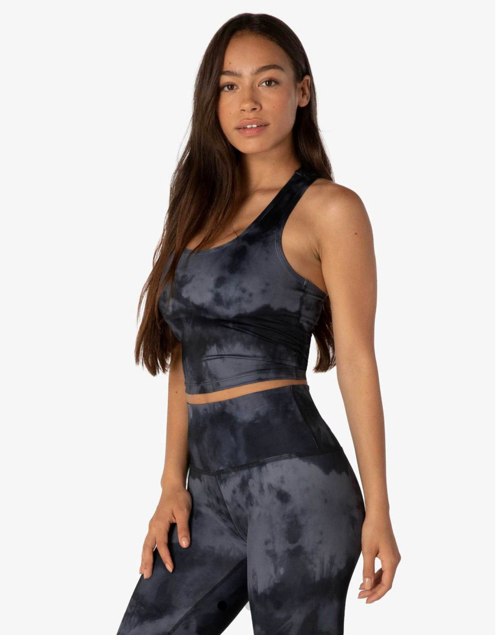 Beyond Yoga Luxe Gray Smoke Tank