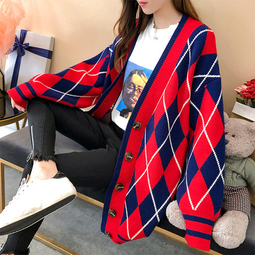 Autumn And Winter Sweater Batwing Sleeve Cardigan Knitted Casual Casaco Feminino Loose Coat Female Overcoat Women's clouthes