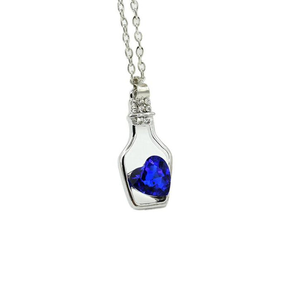 Crystal Drift Bottle Love Necklace