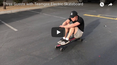 Three Guests with Teamgee Electric Skateboard