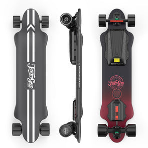 "TEAMGEE H5 Blade 37"" Electric Skateboard with Drop Through Deck"