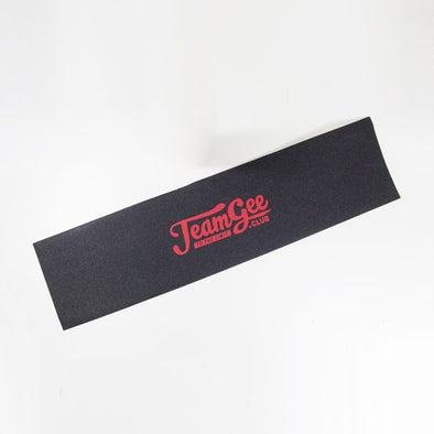 Teamgee Red Logo Grip Tape Black