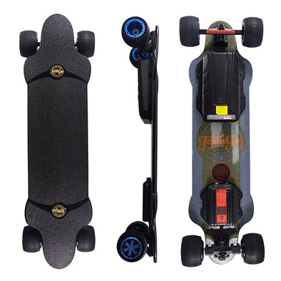 Teamgee H20T Electric Skateboard With Rubber Wheels