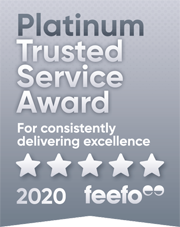 Feefo® Platinum Trusted Service 2020