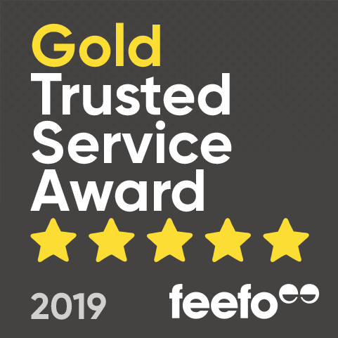 Feefo® Gold Trusted Service 2019