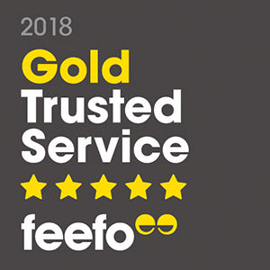 Feefo® Gold Trusted Service 2018