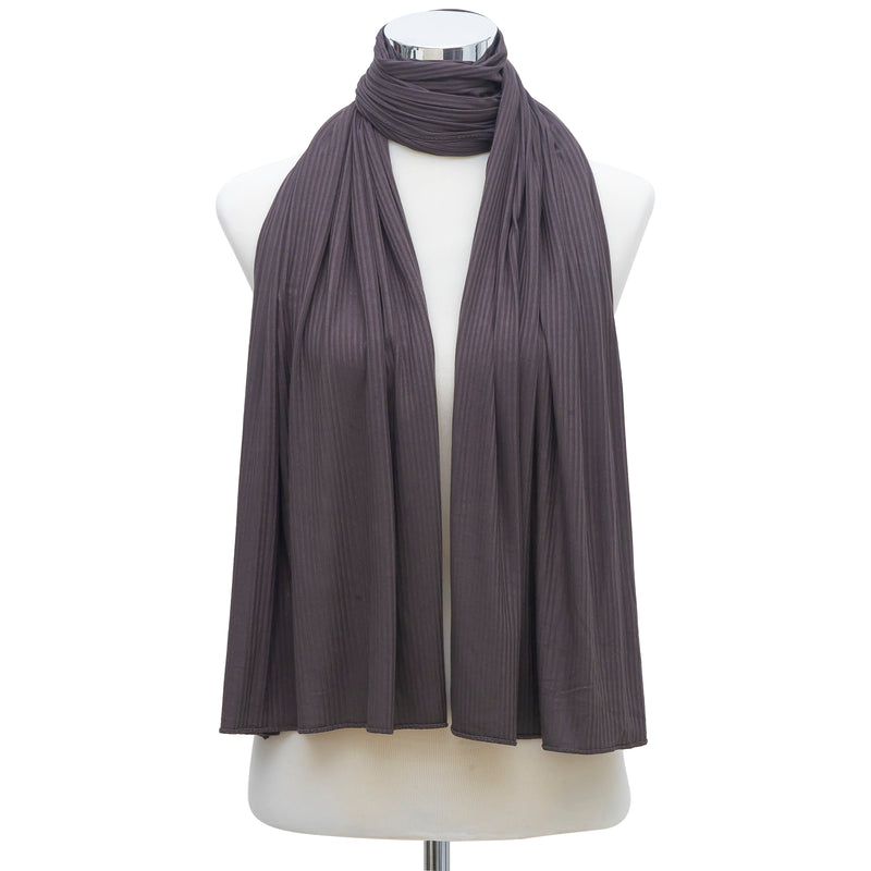 Premium Jersey Pleated Hijab - Dark Gray