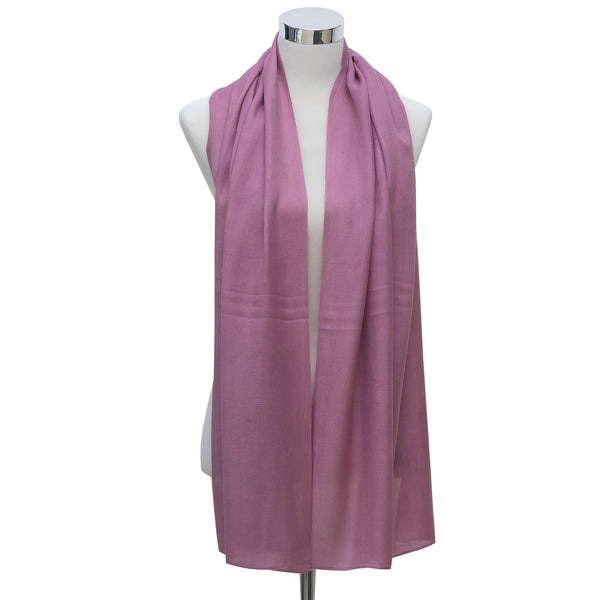 Linen Hijab- Light Plum