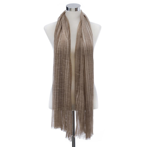 Linen Hijab Pleated- Taupe