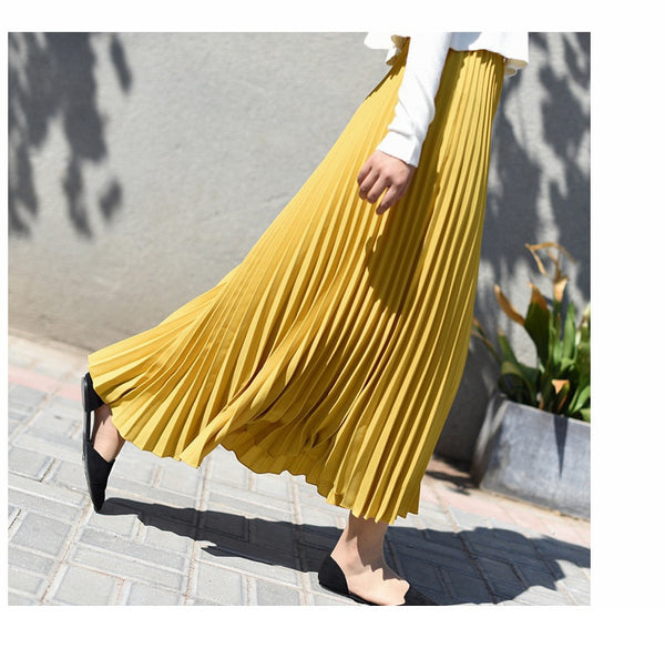 High Waist Pleated Skirt by Benaat