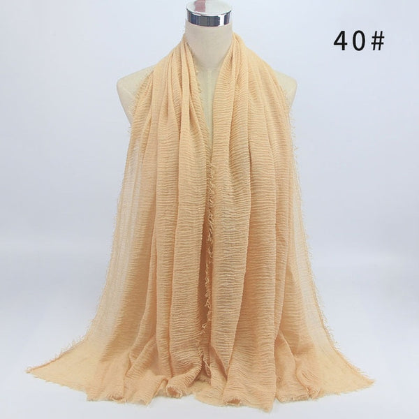 Crinkle Hijab - Yellow Cream